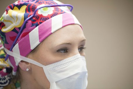 Surgical Technologist with mask